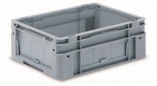 Automation container with solid sidewalls, 400x300x170mm