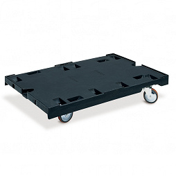 Dolly with 2 fixed and 2 steering castors, 1200x800x200mm