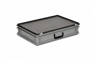 Plastic case 600x400x135 mm carry handle on one long side