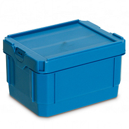 Stackable dispatch container 198x148x120 with lid without insert