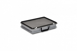 Plastic case 400x300x80 mm carry handle on one long side