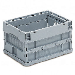 Foldable box- solid sides & base without lid, without locking