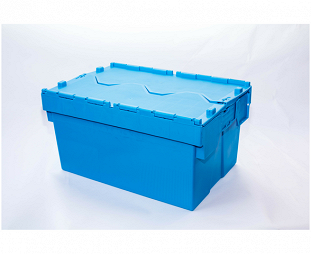 These nestable containers are ideal for saving space when empty.