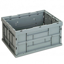 Foldable box - solid sidewalls & base without lid and locking