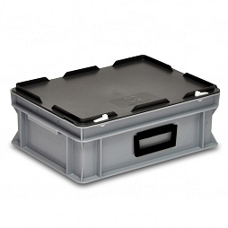 Plastic case 600x400x90 mm carry handle on one long side