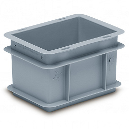 Stackable container- solid sides,solid base & profile handle