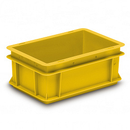 Stackable container- solid sides & base with profile handle