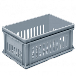 Stacking container RAKO, SGL grated base