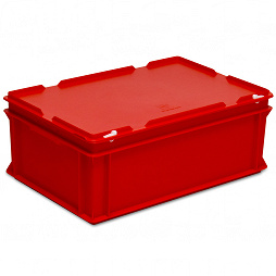 Stacking container RAKO with hinged lid 600x400x235 mm