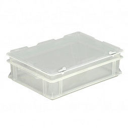 Stacking container RAKO with hinged lid 400x300x132 mm