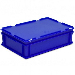 Stacking container RAKO with hinged lid 600x400x184 mm
