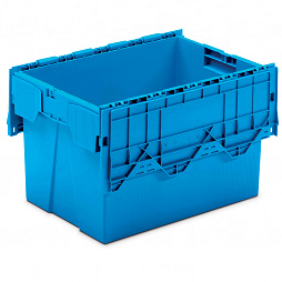 Nestable container with hinged lid (ALC) 600x400x368 mm