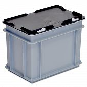 Stacking container RAKO with hinged lid 300x200x235 mm