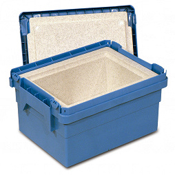 Dispatch container POOLBOX with insulation insert
