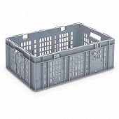 Plastic crate SGL, SGL slotted base with ribbing