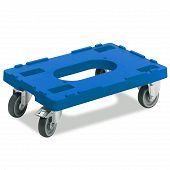 Transport dolly with rubber tyre