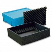 Reusable service box with lid, stackable 398x306x120 mm