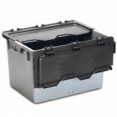Space-saving container with lid 842x596x520 mm