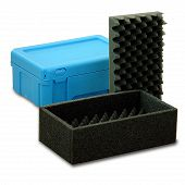 Reusable service box with lid, stackable 298x198x120 mm