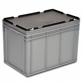 Stacking container RAKO with hinged lid 600x400x441 mm