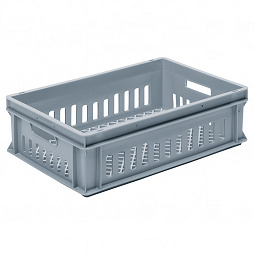 Stacking container RAKO, grated base