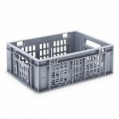 Plastic crate SGL, grated base