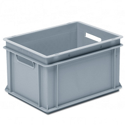 Stacking container RAKO, base with ribbing