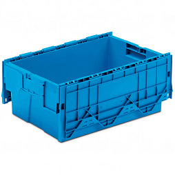 Nestable container with hinged lid (ALC) 600x400x263 mm