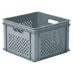 Stacking container RAKO, perforated base with ribbing