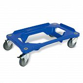 Transport dolly with 4 steering casters with rubber tyre