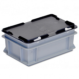 Stacking container RAKO with hinged lid 300x200x132 mm