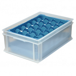 Glas Manager (Set), 24 compartments, packed in a cardboard box