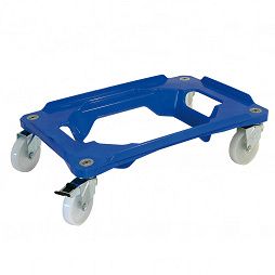 Transport dolly with4 steering casters INOX
