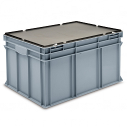 Stacking container RAKO with hinged lid 800x600x441 mm