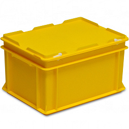 Stacking container RAKO with hinged lid 400x300x235 mm