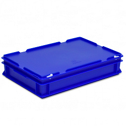 Stacking container RAKO with hinged lid 600x400x132 mm