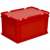 Stacking container RAKO with hinged lid 600x400x338 mm