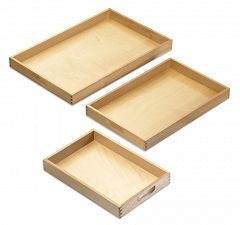 Montessori Tabletts ausd Holz, 3er Sparset