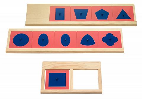Sparset Montessori Metallene Einsatzfiguren mit ...
