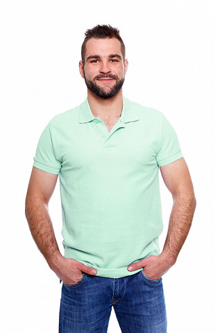 Polo-Shirt, türkis