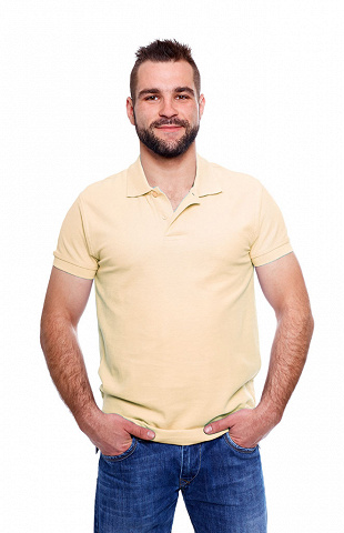 Polo-Shirt, beige