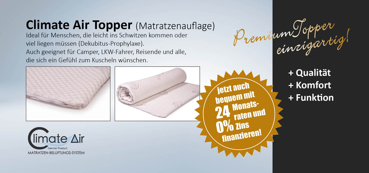 Climate - Air Topper Matratzenauflage