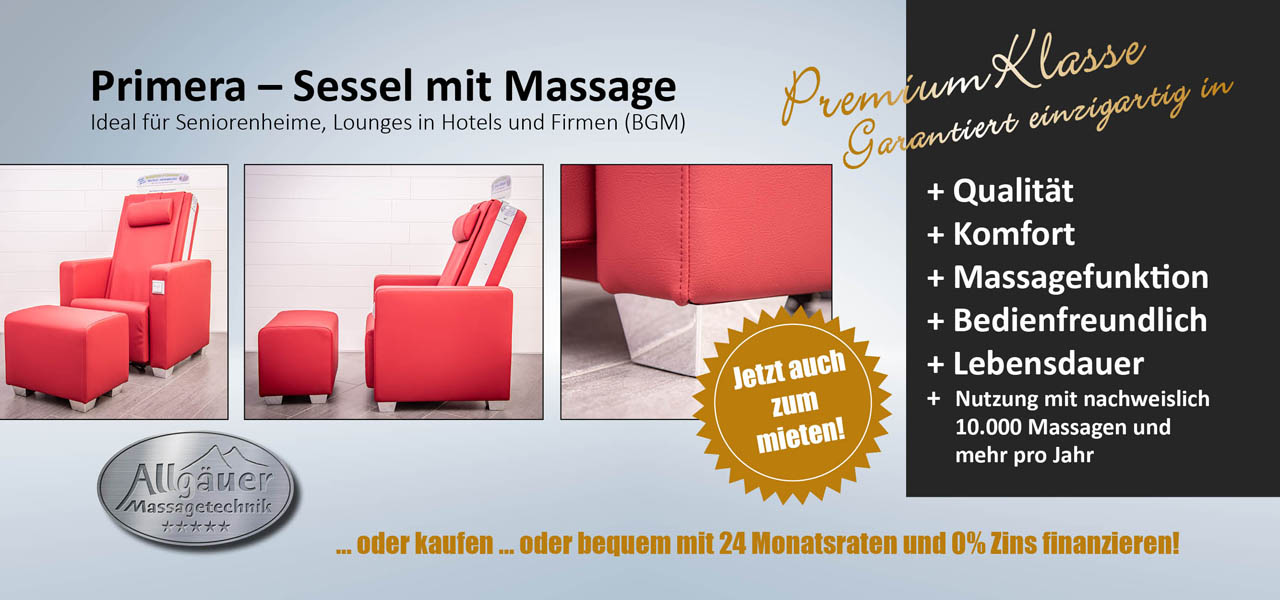 Primera - Sessel mit Massage